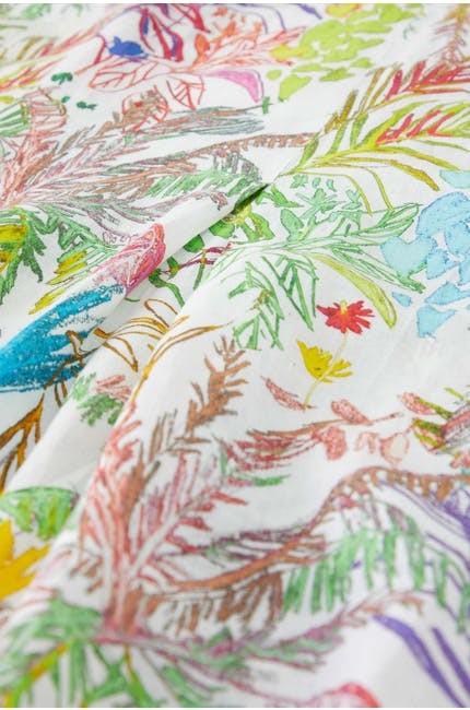 Chalk Jungle Linen Dress main image