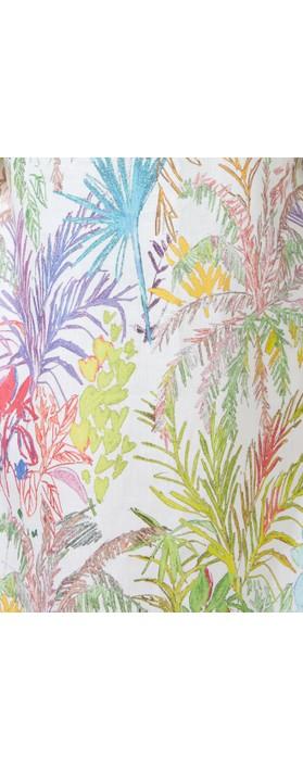 Sahara Chalk Jungle Linen Dress Multi