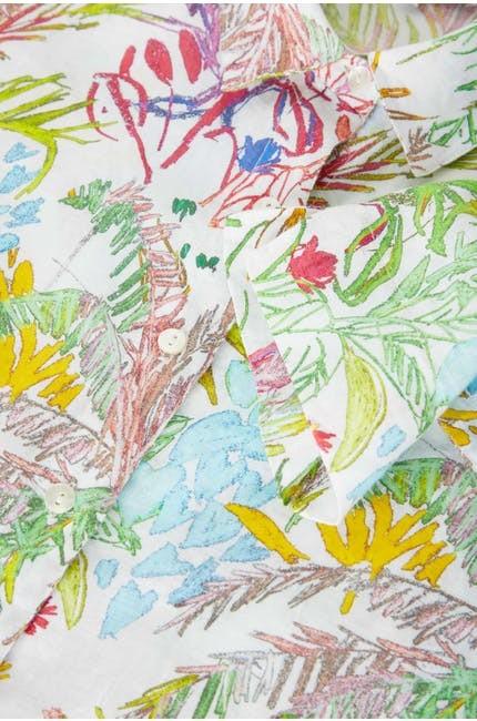 Chalk Jungle Linen Shirt main image