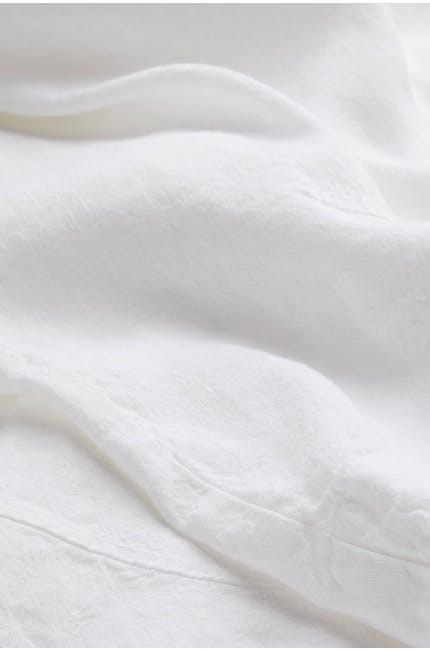 Sahara Linen Asymmetric Top Optic white