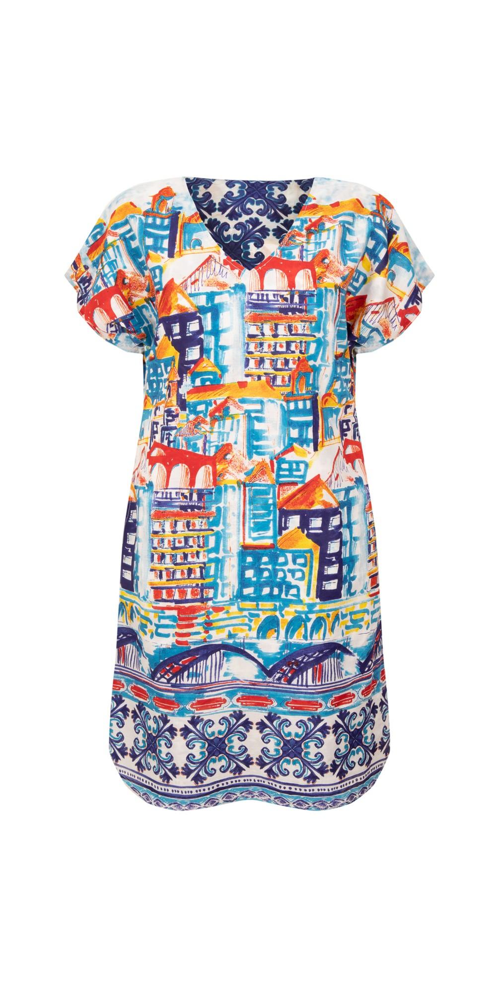 Algarve Curved Hem Reversible Dress main image