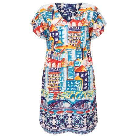 Orientique Algarve Curved Hem Reversible Dress - Blue