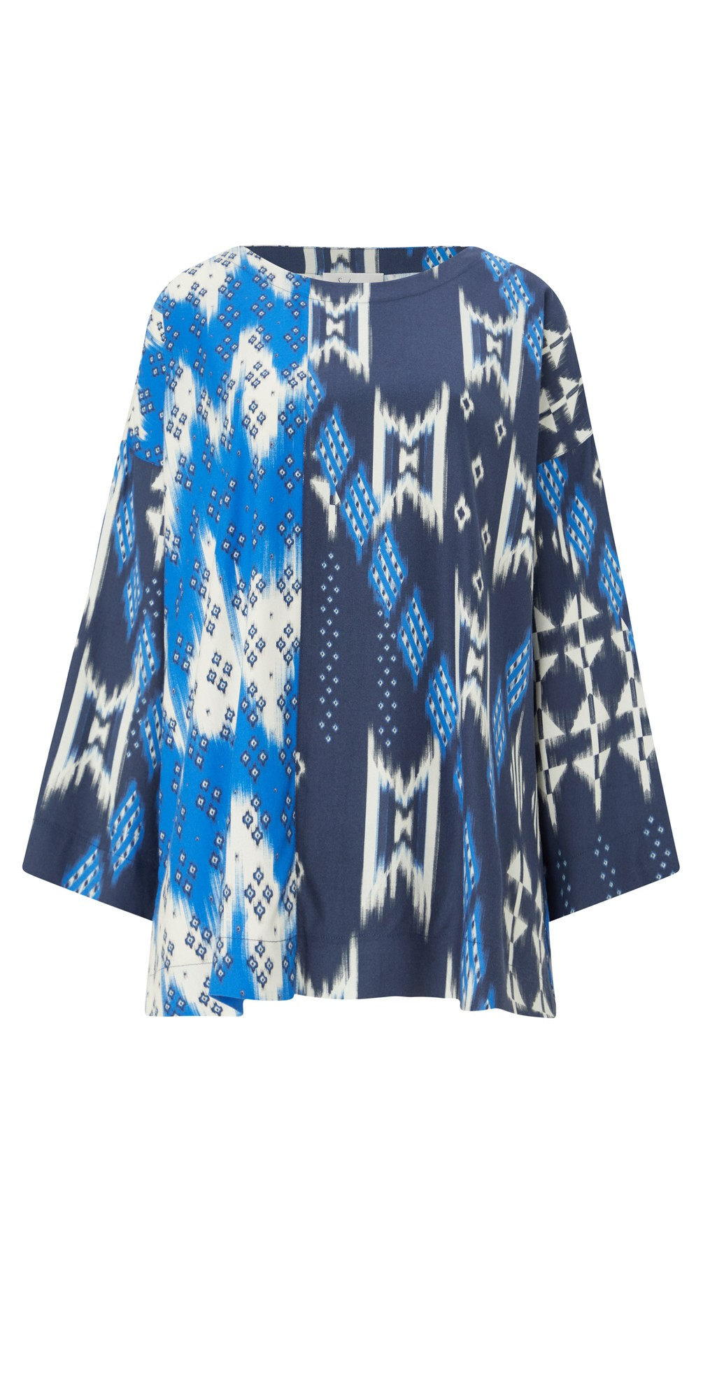 Mixed Ikat Print Top main image
