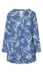 Sahara Delft/Porcelain Vintage Kimono Print Tunic