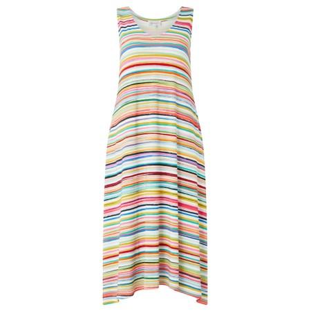 Sahara Stripe Jersey Sleeveless Dress - Multicoloured