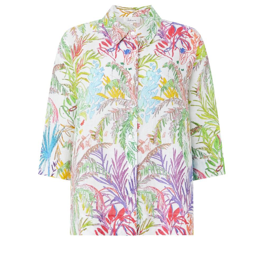 Sahara Chalk Jungle Linen Shirt Multi