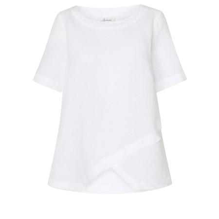 Sahara Linen Asymmetric Top - White