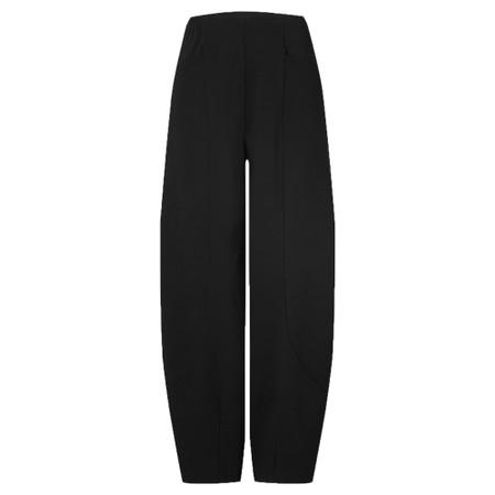 Sahara Texture Linen Crop Bubble Pant - Black