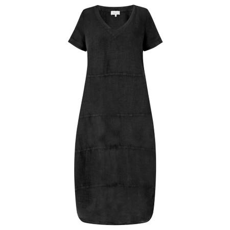 Sahara Linen Panelled Dress - Black