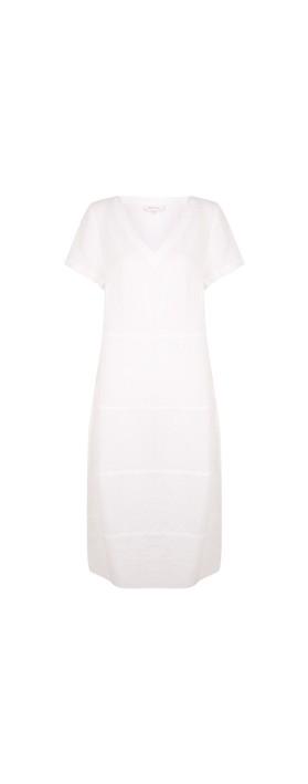 Sahara Linen Panelled Dress Optic white
