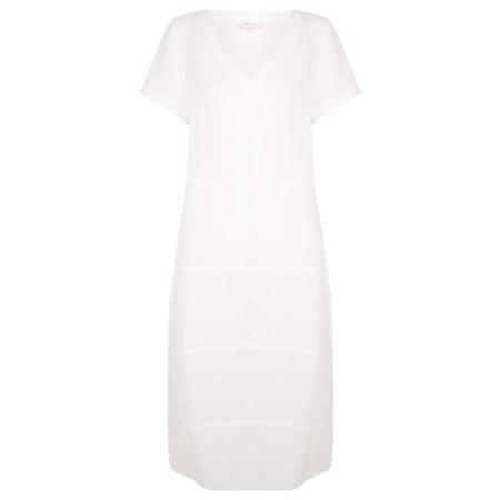 Sahara Linen Panelled Dress - White