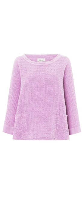 Sahara Waffle Linen Relaxed Top Lilac