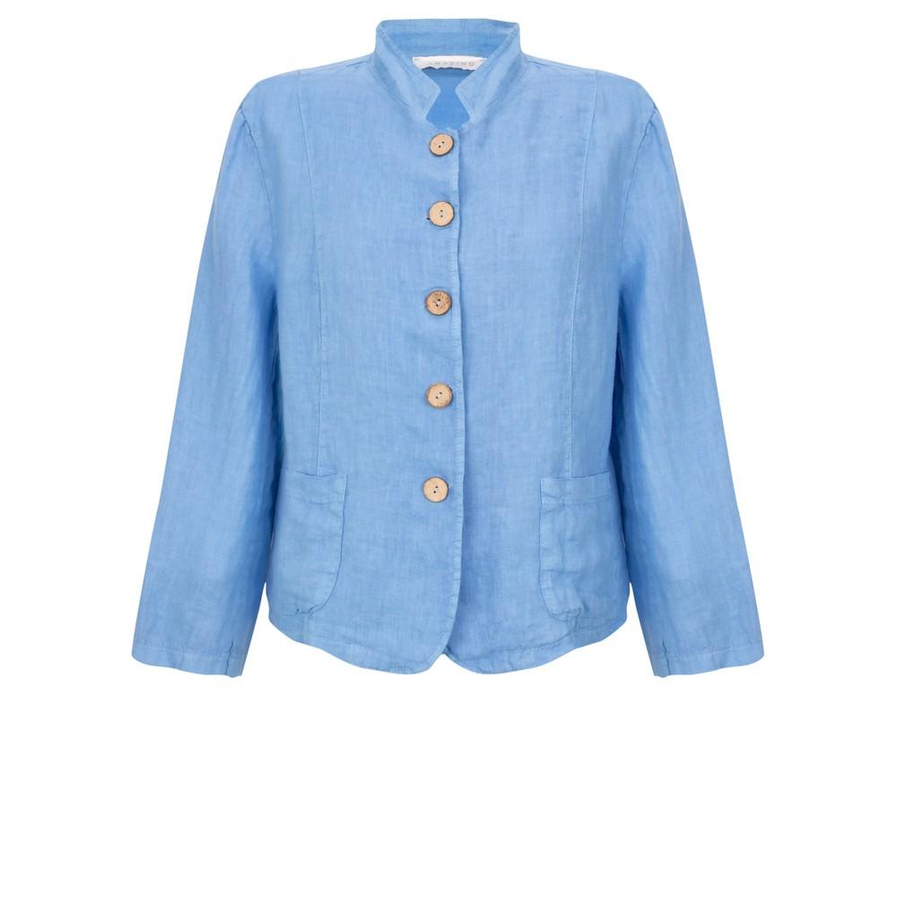 Amazing Woman Katia Front Pocket Short Jacket Blue