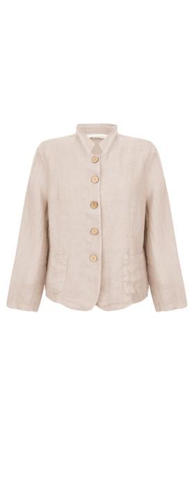 Amazing Woman Katia Front Pocket Short Jacket Natural
