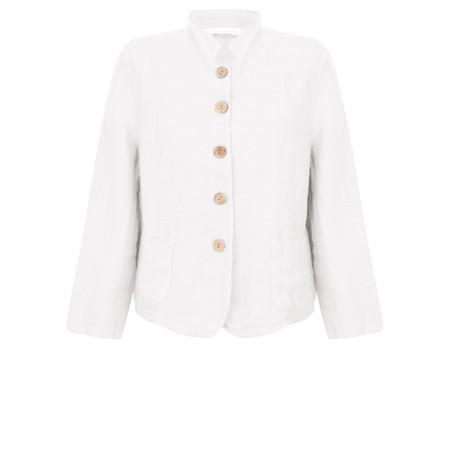 Amazing Woman Katia Front Pocket Short Jacket - White