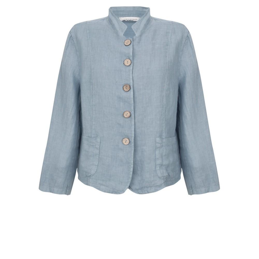 Amazing Woman Katia Front Pocket Short Jacket Denim Blue