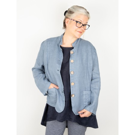 Amazing Woman Katia Front Pocket Short Jacket - Blue