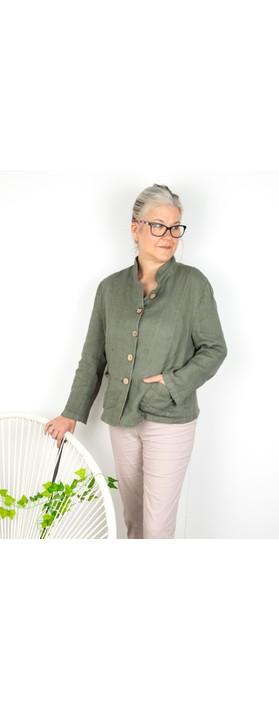 Amazing Woman Katia Front Pocket Short Jacket Khaki