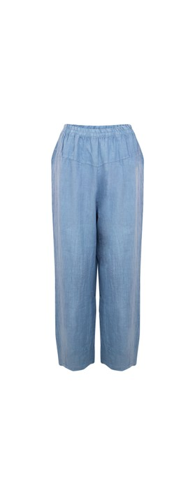 Amazing Woman Ossie Linen Seamed Trouser Blue