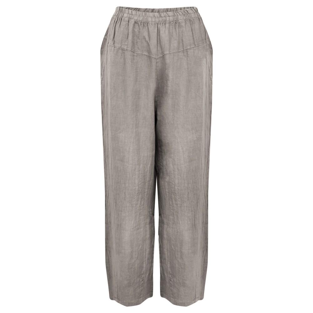 Amazing Woman Ossie Linen Seamed Trouser Fango