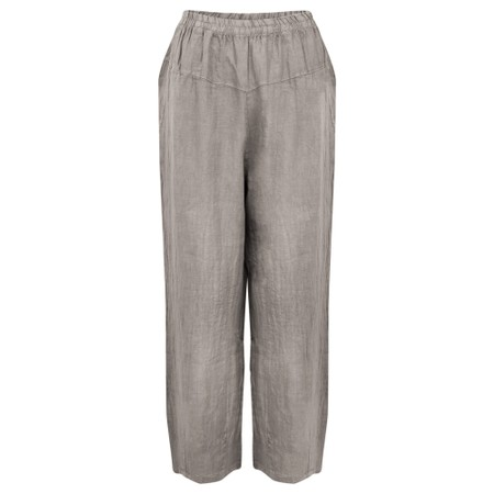 Amazing Woman Ossie Linen Seamed Trouser - Brown
