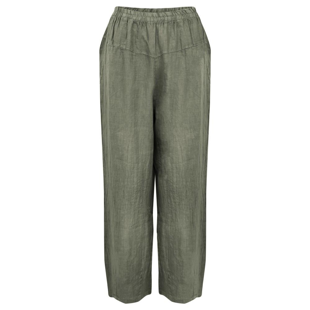 Amazing Woman Ossie Linen Seamed Trouser Khaki