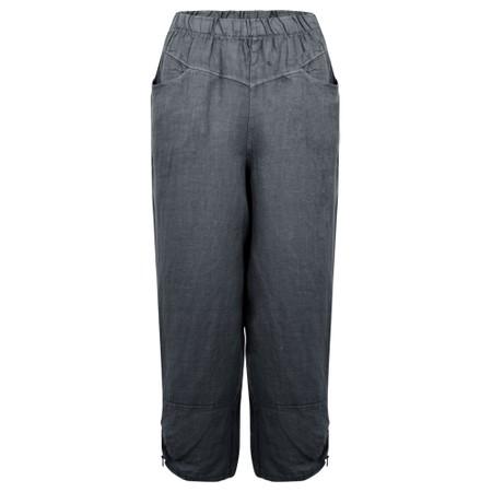 Amazing Woman Orla Cropped Linen Trouser - Black