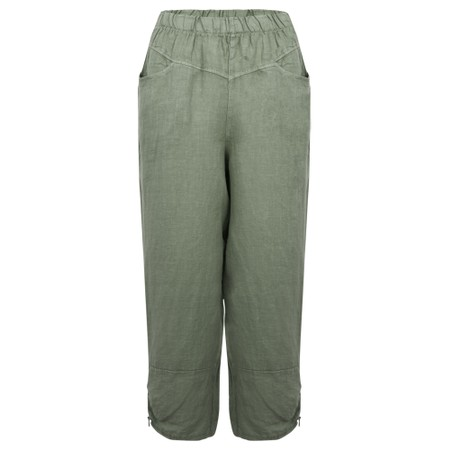 Amazing Woman Orla Cropped Linen Trouser - Beige