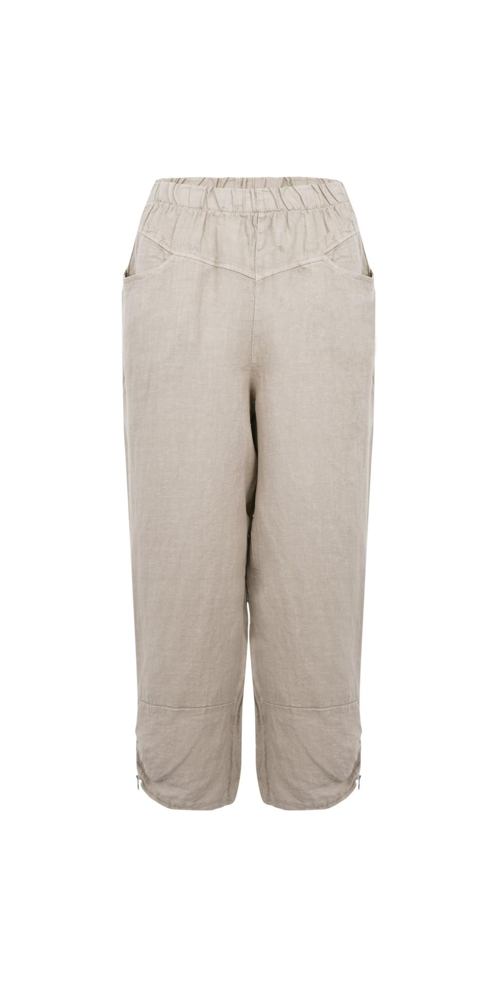 Orla Cropped Linen Trouser main image