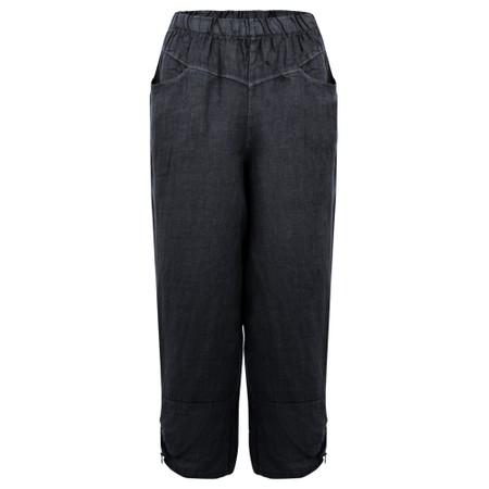 Amazing Woman Orla Cropped Linen Trouser - Blue