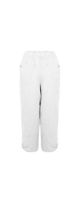 Amazing Woman Orla Cropped Linen Trouser White