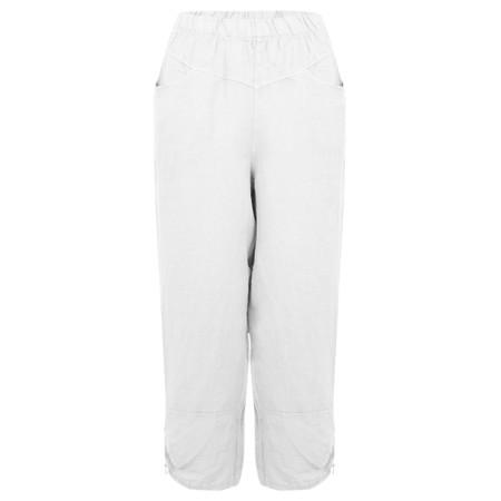 Amazing Woman Orla Cropped Linen Trouser - White