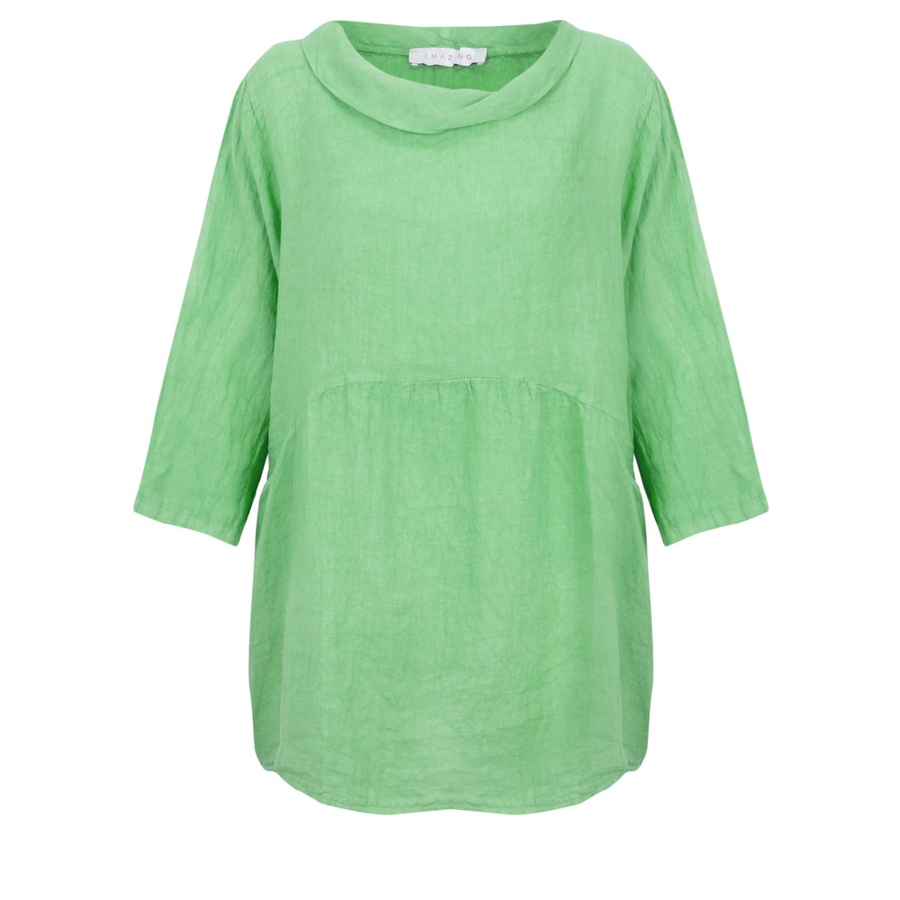 Amazing Woman Lexia Roll Neck Top Avocado
