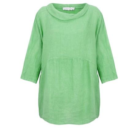 Amazing Woman Lexia Linen Top - Green