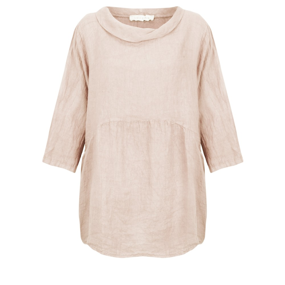 Amazing Woman Lexia Roll Neck Top Natural