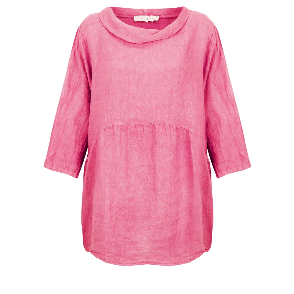 Amazing Woman Lexia Roll Neck Top Pink Confetti