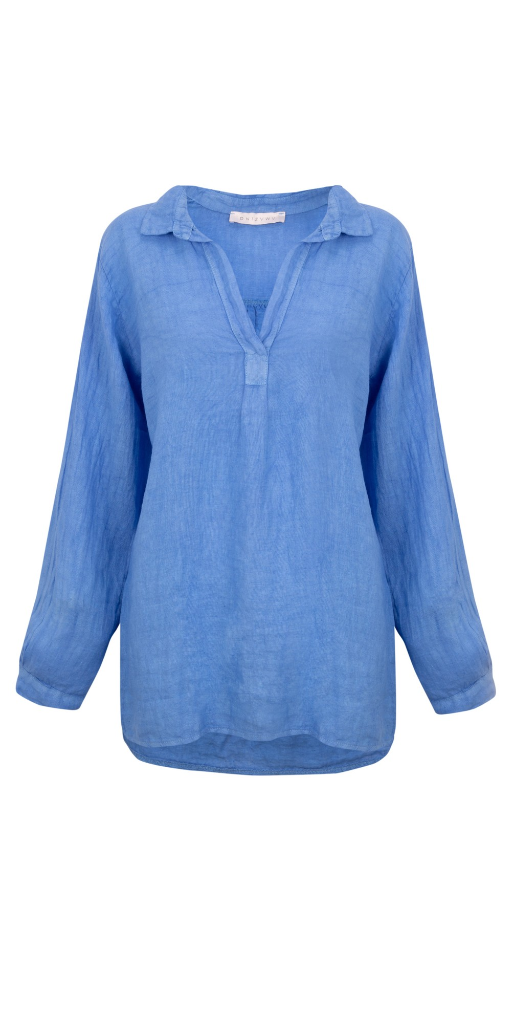 Bela Long Sleeve Linen Top main image