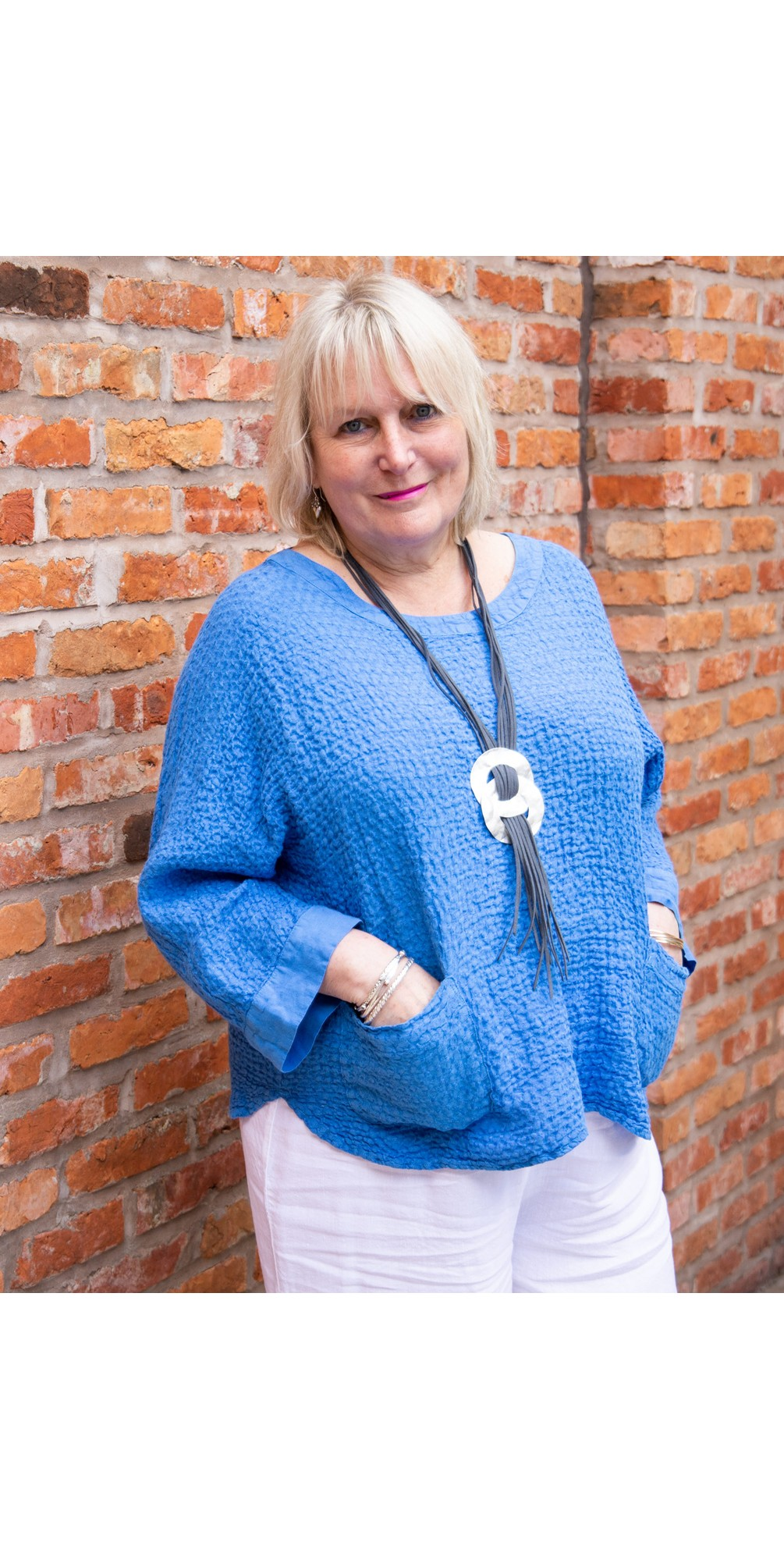 Waffle Linen Relaxed Top main image