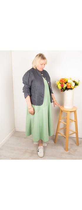 Amazing Woman Katia Front Pocket Short Jacket Charcoal
