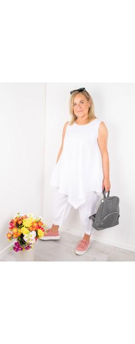 Thing Indi Easyfit Linen Sleeveless Top White