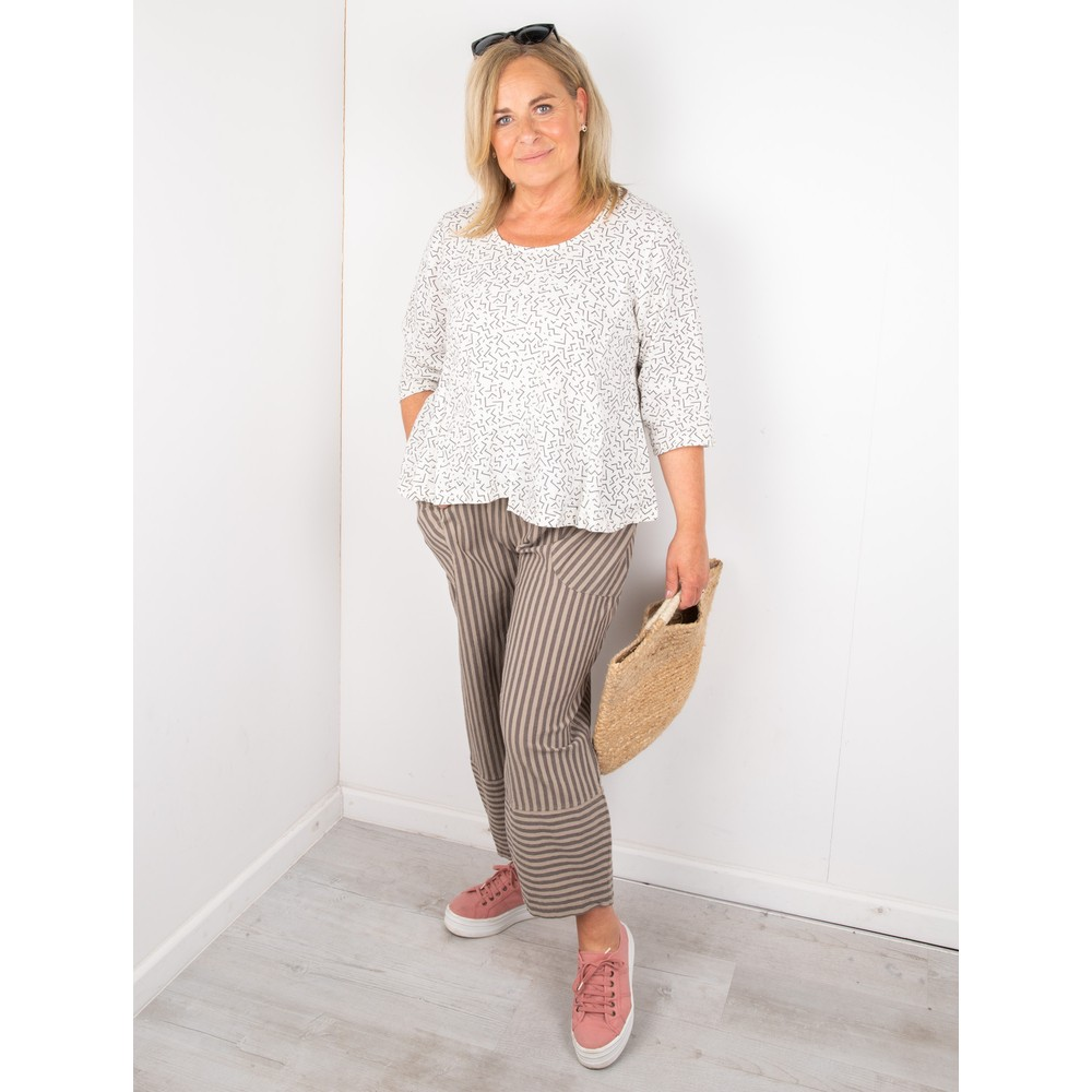 Thing Trina Stripe Trousers Sand