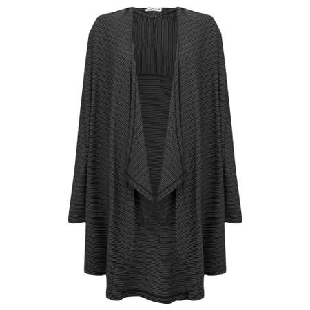Mes Soeurs et Moi Tabarka Linen Stripe Cardi - Black