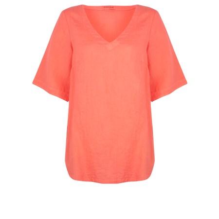 Mes Soeurs et Moi Annette Linen Short Sleeve Top - Orange