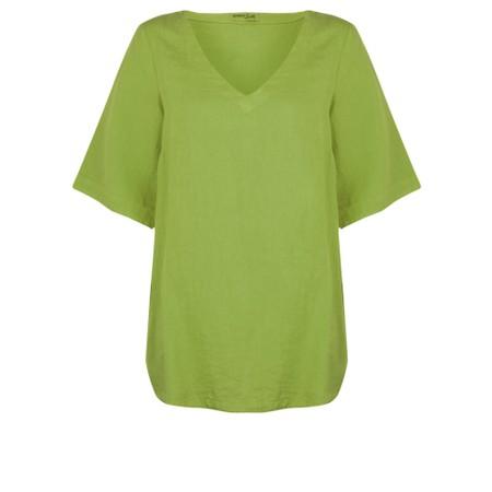 Mes Soeurs et Moi Annette Linen Short Sleeve Top - Green