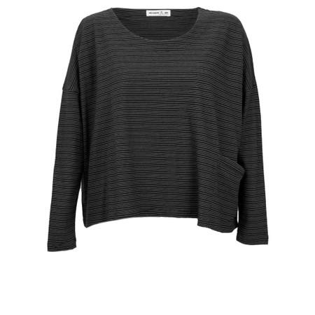 Mes Soeurs et Moi Tapir Jersey Stripe Top - Black
