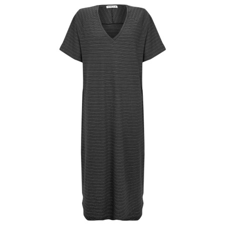 Mes Soeurs et Moi Takwa Stripe Long Dress - Black