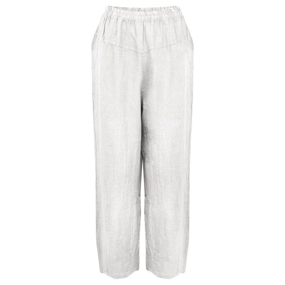Amazing Woman Ossie Linen Seamed Trouser White