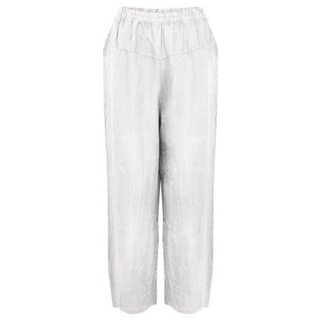 Amazing Woman Ossie Linen Seamed Trouser - White