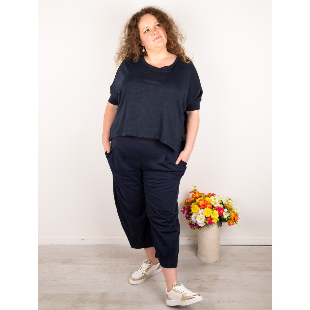 Mama B Lago L Fine Linen Jumper Blu