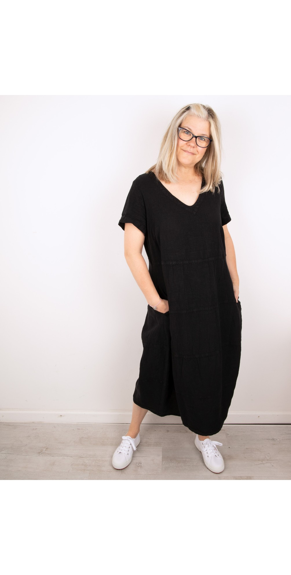 Linen Panelled Dress main image